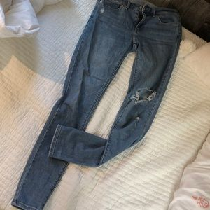 Levi's jeans ripped